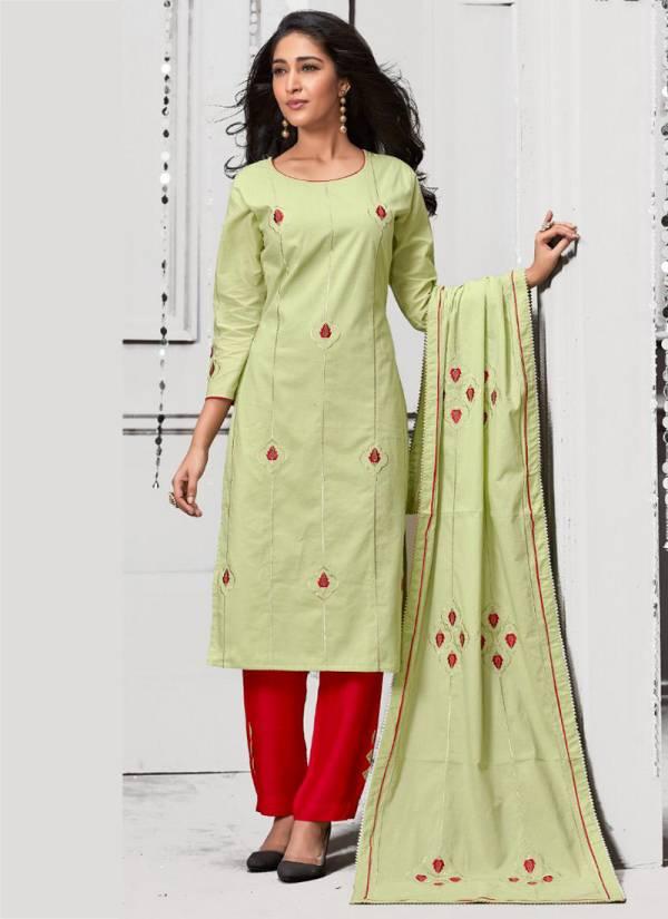 Kiana Crystal Vol 2 Series 2001-2007 Chanderi Silk & Rayon With Thread Work New Designer Readymade Salwar Suits Collection