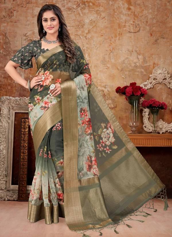 Nari Fashion Deliz Series 2751-2760 Soft Organza Zari Rapier Designer Party Wear Sarees Collection