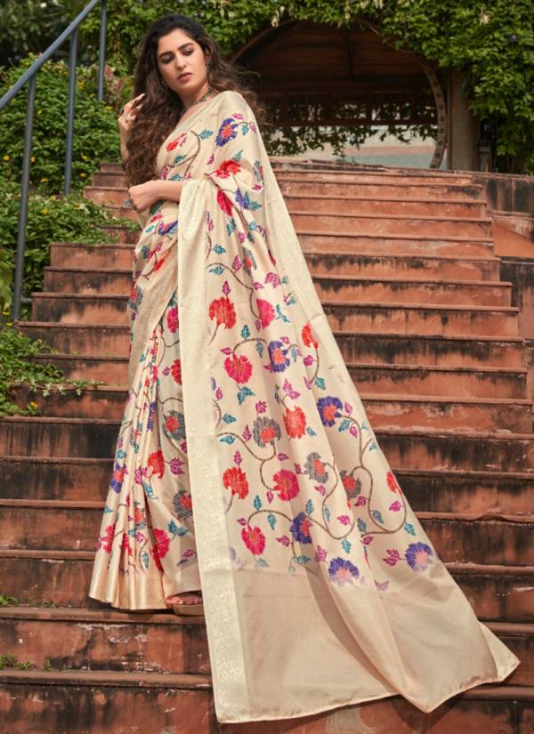 Rajtex Aarohi Silk Soft Silk With Floral Digital Printed Fancy Festival  Daily Wear Designer Saree Collection