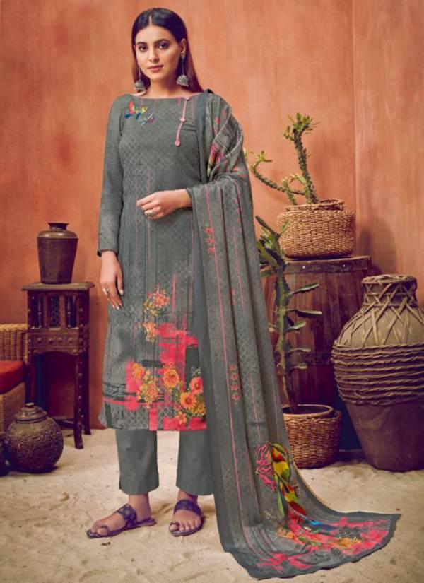 Kala Fashion Titli Series 8001-8008 Heavy Top Pashmina Digital Print Winter Season Sawar Suits Collection