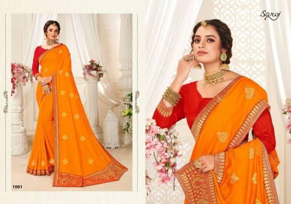 Saroj Nityashree PC Vichitra Silk With Fancy Zari Work Sarees Collection
