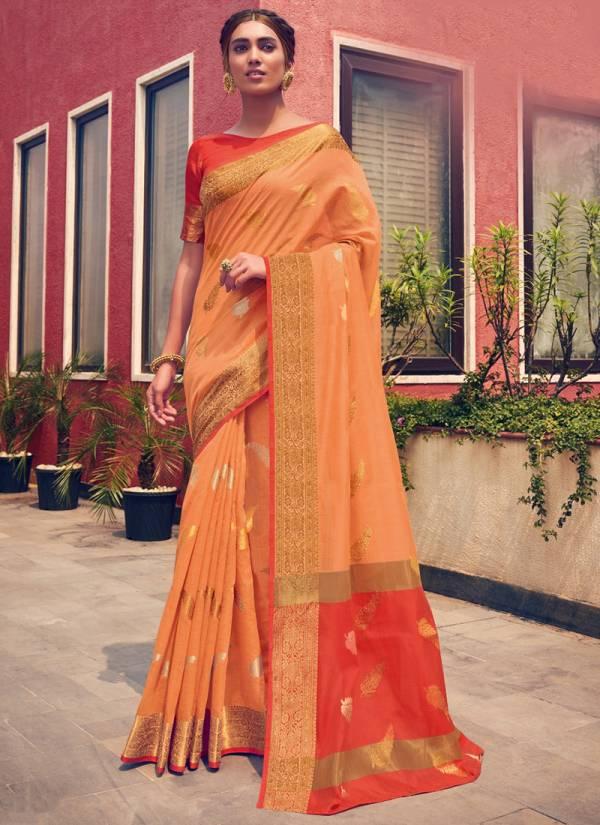 Sangam Neem Zari Cotton Series NEEMZARICOTTON-6001-NEEMZARICOTTON-6006 Cotton Handloom Latest Designer Festival Wear Sarees Collection
