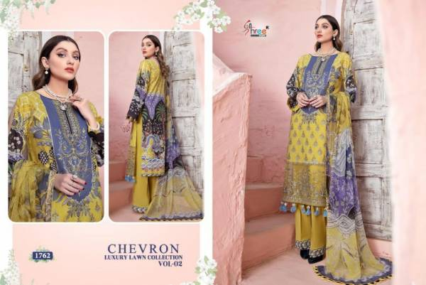 Shree Fab Chevron Luxury Lawn Collection Vol 02 Pure Lawn Printed With Self Embroidery Work Festival Wear Designer Pakistani Suits Collection