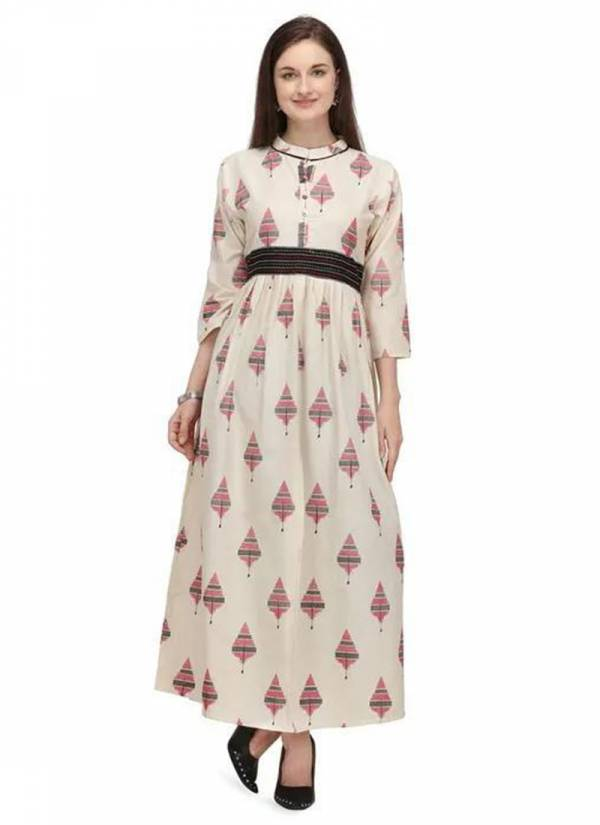 Vamika NX Series MM-1 - MM-4 Premium Cotton Flex With Digital Print Long Gown Style Kurti Collection