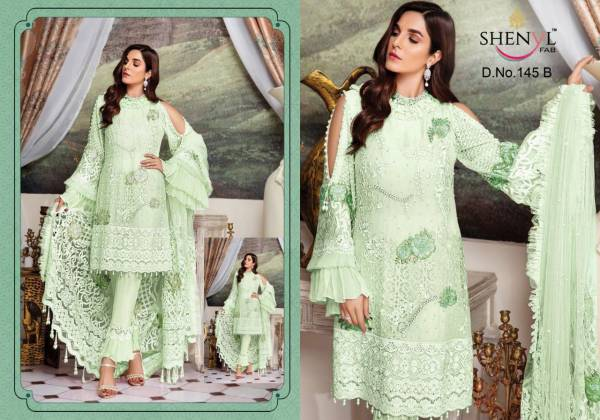 Shenyl Fab 145 Georgette With Heavy Embroidery Work Pakistani Suits Collection