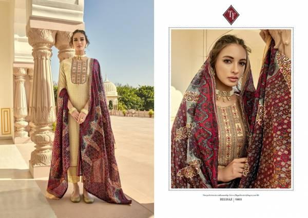Tanishk Fashion Meenaz Series 15801-15808 Pure Jam Silk Wtih Kashmiri Embroidery & Hand Work New Designer Palazzo Suits Collection
