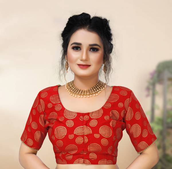 Shree Enterprise Series 6493-6496 Brocade Stylish Fancy Designer Plus Size Readymade Blouses Collection (34 to 62 Size)