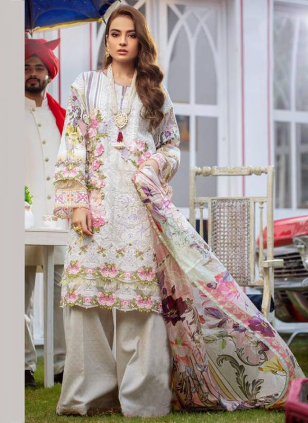 Kaara Suits Firdous Lawn Vol 7 Series 7001-7006 Pure Cotton Printed With Embroidery Work Ramzan Special Pakistani Suits Collection