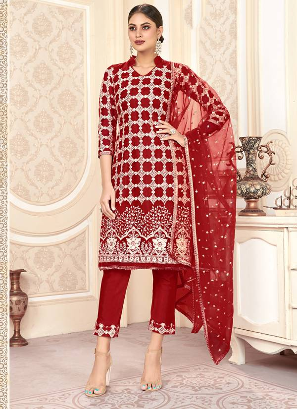Varni Fabric Zeeya Husna Vol 2 Series 1205-1208 Butterfly Net With Heavy Embroidery Work Festival Wear Salwar Suits Collection
