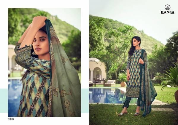 Hansa Hidaya Sara Pashmina Digital Printed Hand Work Straight Suits Collection