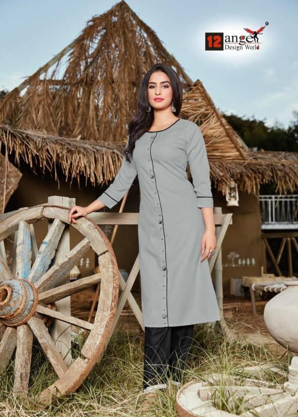 12 Angel Fantam Heavy Rubby Cotton Regular Wear Designer Kurti Collection