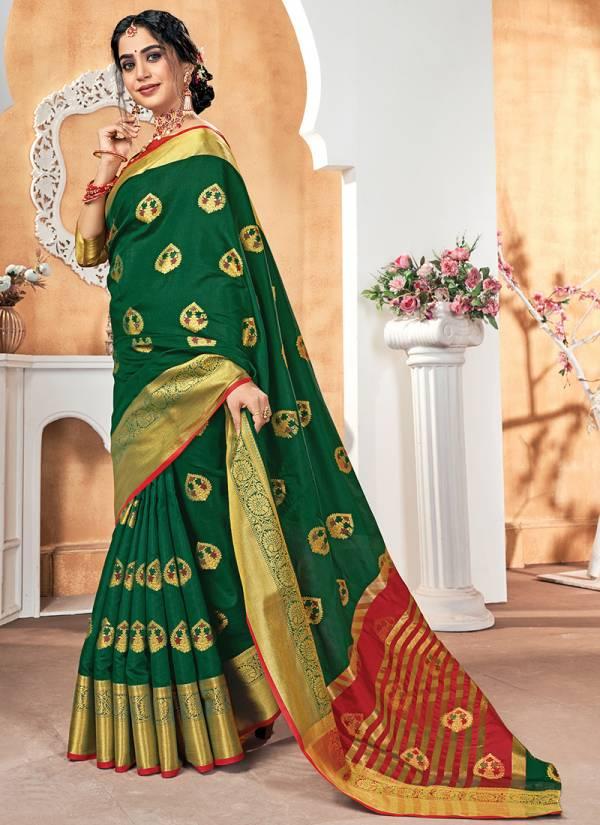Sangam Prints Vaishnavi Silk Digital Embroidery Work Wedding Wear Designer Sarees Collection