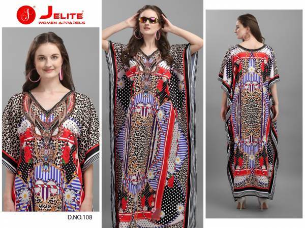 Jelite afreen Polyester Crepe Fancy Digital Print Party Wear Kurti Collection
