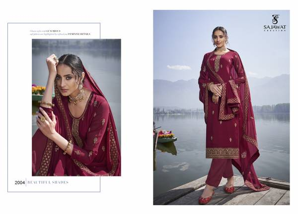 Sajawat Creation Mahira Vol 2 Series 2001-2005 Heavy Faux Georgette With Heavy Embroidery Work Designer Readymade Churidar Suits Collection