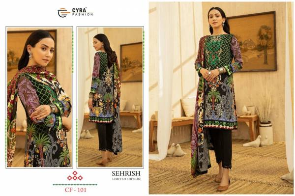 Cyra Fashion Sehrish Cotton Digital With Patch Work Pakistani Suits Collection