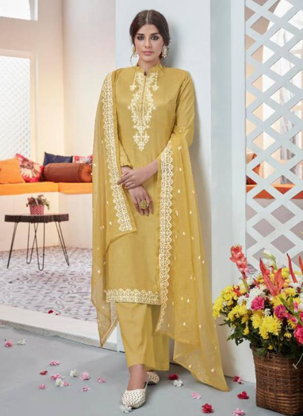 Deepsy Heavin Series 1001DH-1005DH Pure Viscose Cotton Silk With Embroidery Work DEsigner Suits Collection