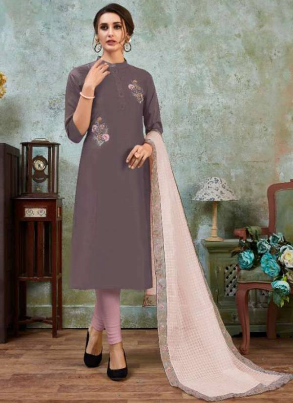 Sweety Fashion Swiggy Series 1001S-1006S New Look Silk Base Fancy Kurti With Dupatta Collection