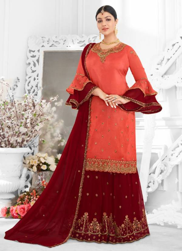 Lavina Vol 105 Series 10501-10506 Satin Georgette Embroidery Work Festival Wear Salwar Suits Collection