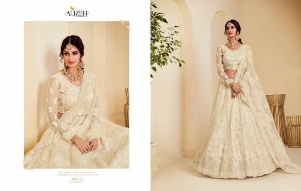 Alizeh The White Bride Net With Silk Wedding Wear Designer Lehenga Choli Collection