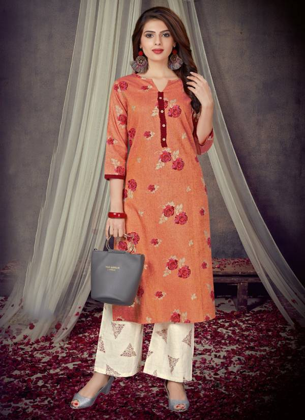 Alishka Fashion Candy Series 1001CANDY-1005CANDY Heavy Cotton With Foil Printed New Fancy Kurtis With Palazzo Collection