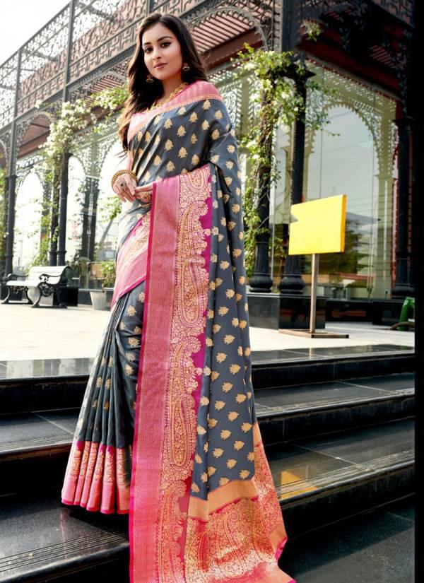 Sangam Kimaanee Silk Series 2001-2006 Silk With Swarovski Work Designer Wedding Wear Sarees Collection