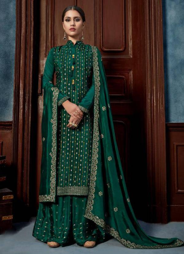 Vipul Fashion Alice Series 4601-4606 Chinnon Sequins & Hand Work Latest Designer Palazzo Suits Collection