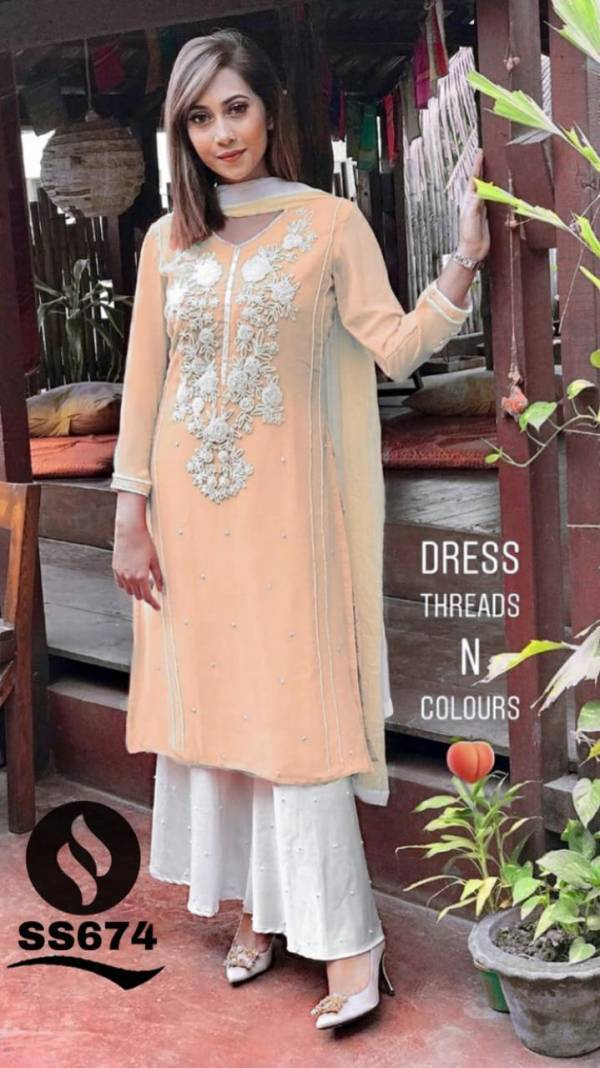 Shree Bherav Suits Series A-F Georgette With Designer Embroidery Work New Festival Wear Salwar Suits Collection