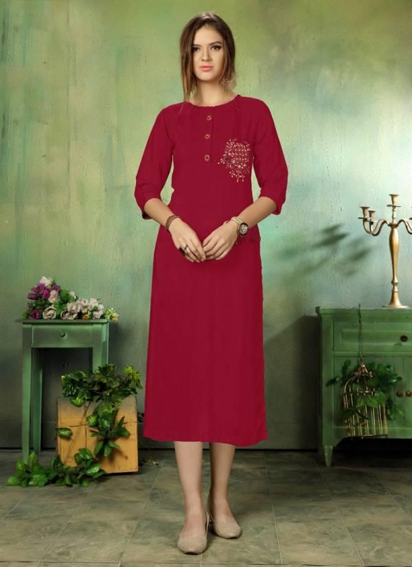 Dhanyawad Cut Daana Vol 5 Series 701-706 Pure Silk Slub With Hand Work New Designer Straight Cut Kurtis Collection