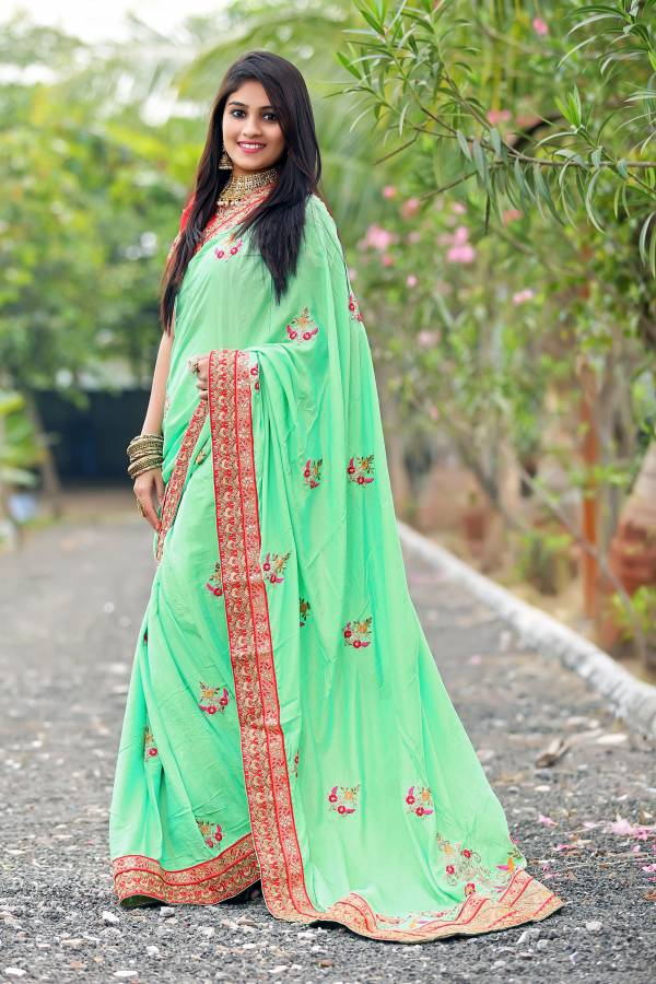 AJ Creation Kiana Series 1001-1005 Silk With Heavy Embroidery Work Party Wear Fancy Sarees Collection