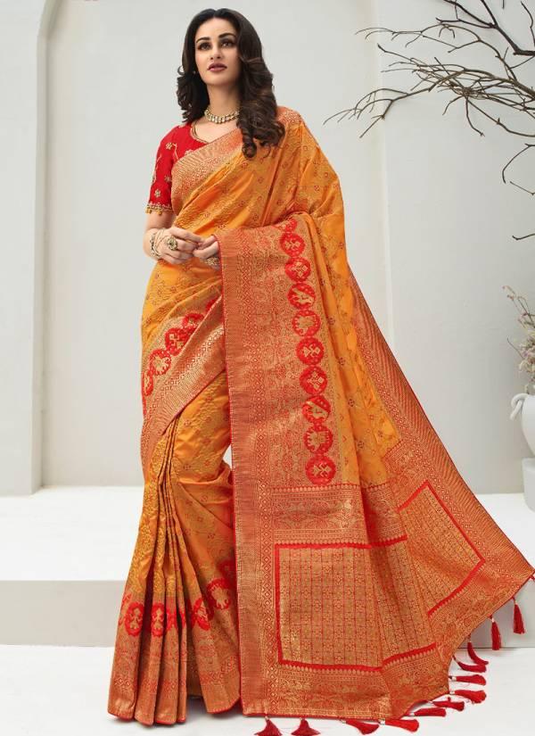 Royal Vrindavan Vol 13 Series 10095-10102 Banarasi Silk Designer Wedding Wear Sarees Collection