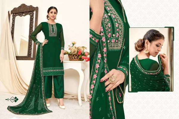 Varni Fabric Zeeya Haseen Georgette With Heavy Embroidery Work Palazzo Suits Collection