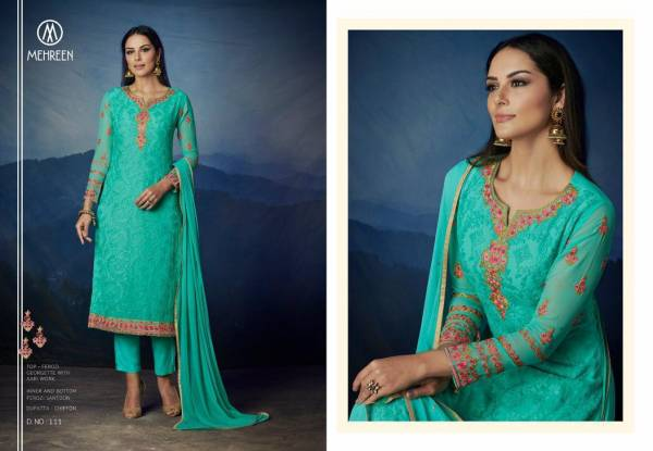 Nakkashi Mehreen Antra Series 110-116 Premium Georgette With Embroidery Work New Designer Churidar Suits Collection