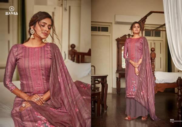 Hansa Hidaya Surveen Jam Cotton With Digital Printed Palazzo Suits Collection