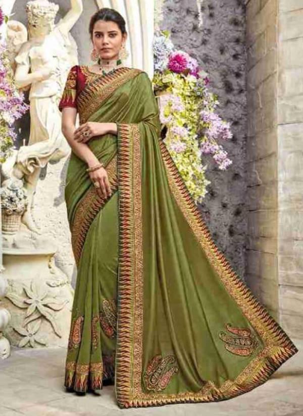 Motif & More M&M Vol 12 Series 12001-12016 Fancy Silk Border Work Latest Designer Party Wear Sarees Collection