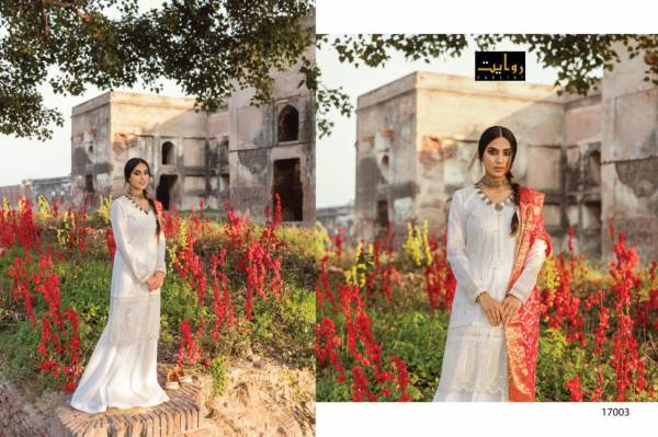 Alzohaib Vol 2 Rawayat Pure Cotton Lawn Embroidered Work Reception Wear Designer Suit collection