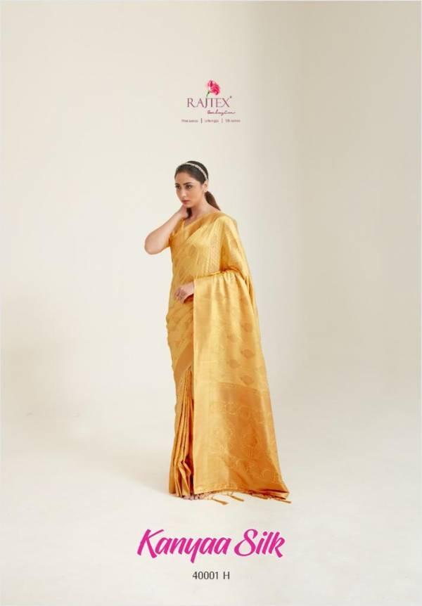 Rajtex Kanyaa Silk Handloom Fancy Embroidery Work Traditional Wear Designer Sarees Collection