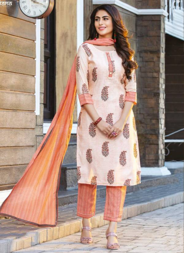 Kiana Cotton Candy Rayon Cotton Print Fancy Style Pant Party Wear Readymade Salwar Suit Collections