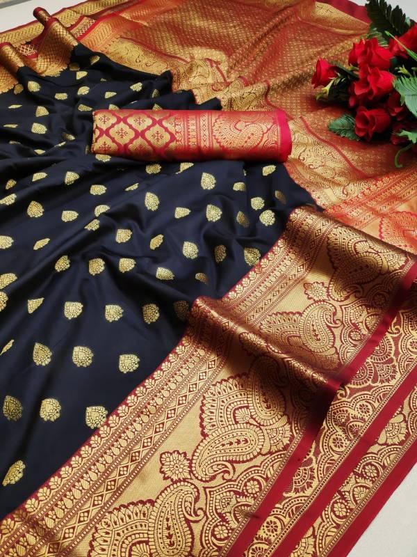 Varni Fabric Lichi Silk With Weaving Silk Rich Pallu Reception Wear Sarees Collection
