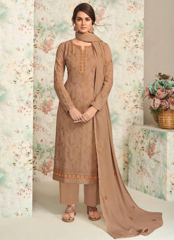 Aashirwad Ziva Series 7197-7202 Real Georgette With Stylish Embroidery Wok Salwar Suits Collection