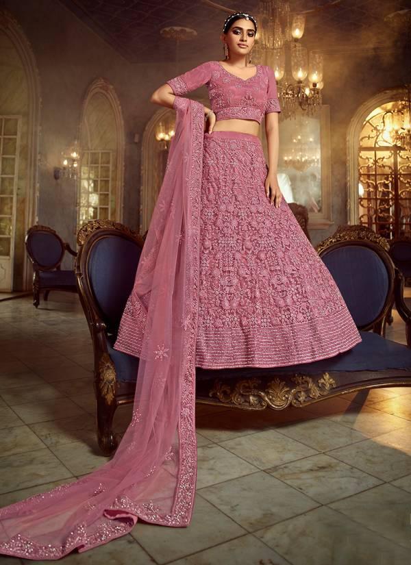 Arya Designer Zara Vol - 7 Series 5401-5408 Soft Net Dori Zarkan Work Wedding Wear Lehenga Choli Collections
