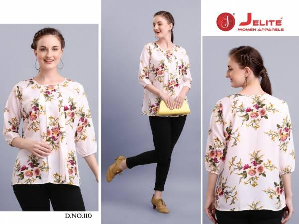 Jelite Tulip Vol 2 Series 109-116 Polyster Crepe Fancy Trendy Look Comfortable Tops Collection
