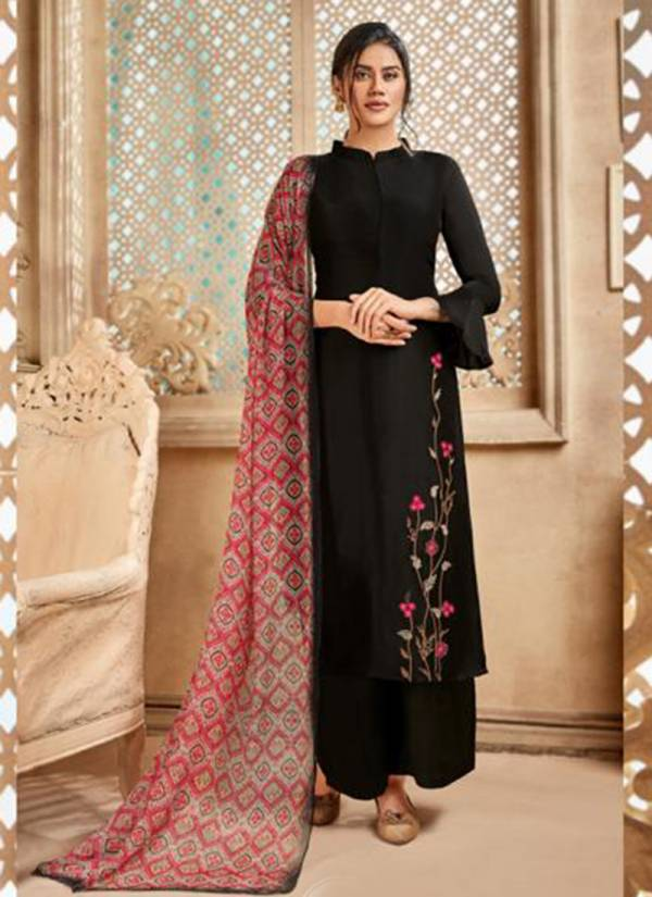 Shivam Exports Riana Vol 6 Series 24300-24306 Pure Viscose Upada Silk With Elegant Embroidery Work Palazzo Suits Collection