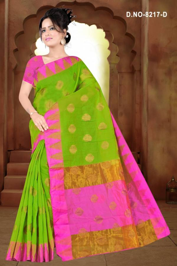 Kodas Sitka Jadoo Series 8217A-8217D Cotton Weaving Designer Casual Wear Sarees Collection