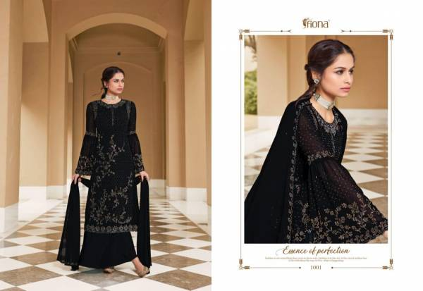Fiona Fantasy Series 1001-1004 Heavy Georgette With Designer Swarovski Work Party Wear Palazzo Suits Collection