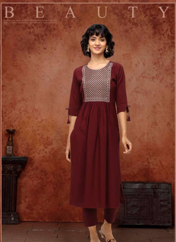 Wholesale Clothing Poly Makhan Straight Cut Regular Wear Kurti With Pant Collection
