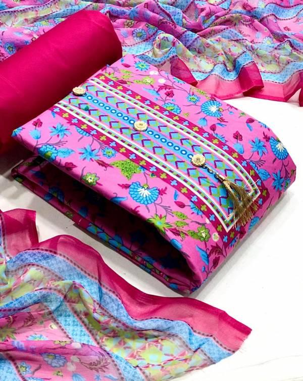 VT Designer Pakistani Suits Heavy Cotton With Floral Print Festival Wear Non Catalogues Suits Collection