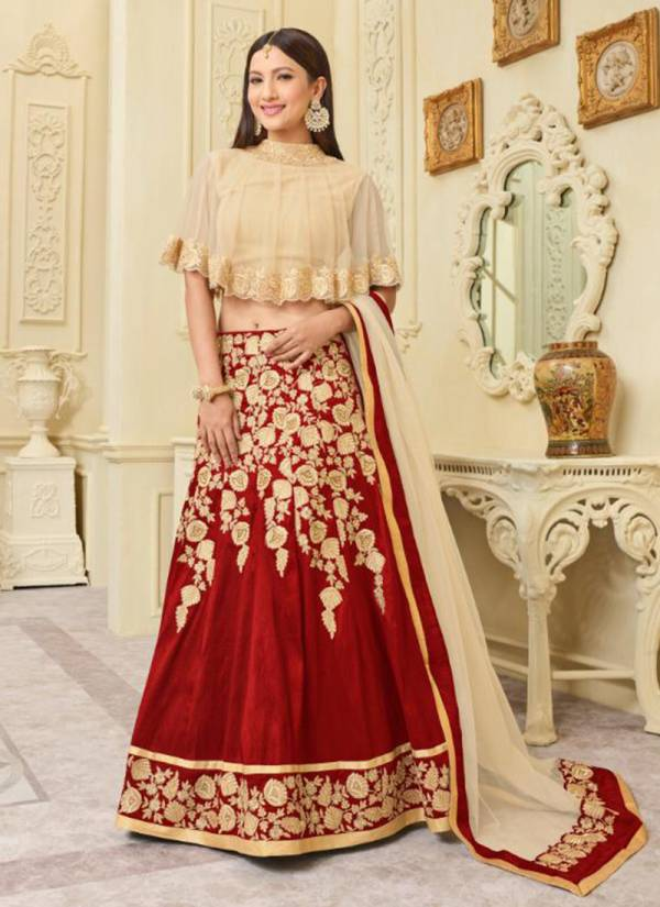 Arihant Designer Sashi Vol 13 Series 12113-12120 Mulberry Silk With Khatli Hand Work Gauhar Khan Style New Designer Readymade Lehenga Cholis Collection