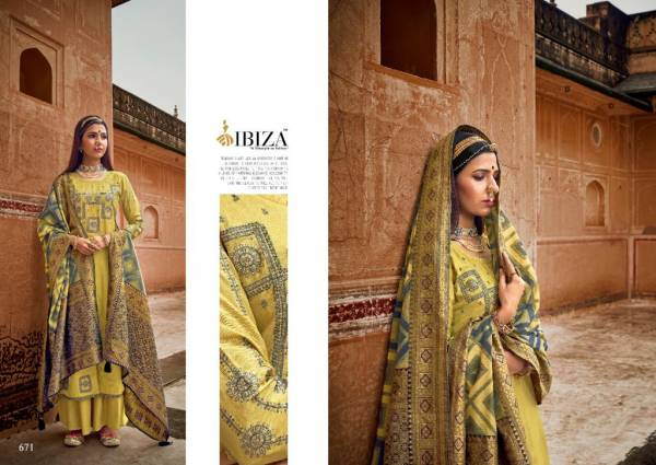 Ibiza Shahzadi Series 669-674 Pure Muslin With Stylish Look Embroidery Work Festival Wear Suits Collection