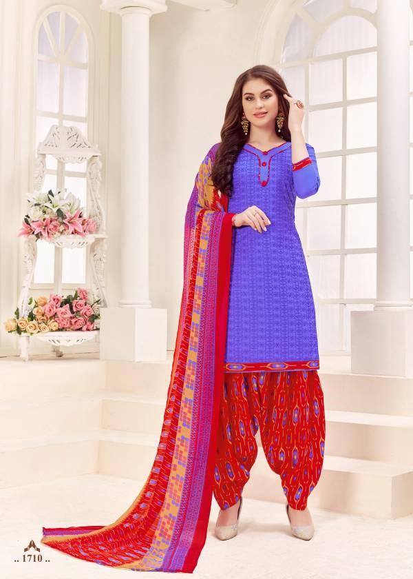 Shree Gurukrupa Dresses Azira PC Cotton Cipli Designer Patiyala Suit Collection