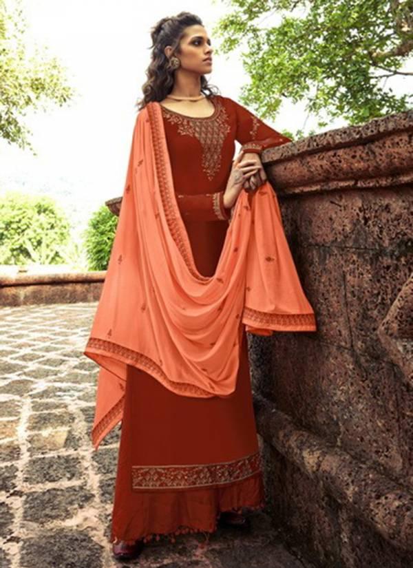 Alisa Aroma Series 6401-6406 Modal Satin With Heavy Diamond Work Ramzan Eid Special Palazzo Suits Collection